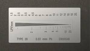 Line pair gauge used to measured the resolution of x-ray inspection systems