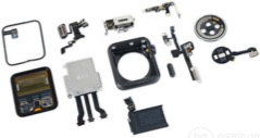 Apple Watch 2 after complete teardown showing the full operation of the device via NFC